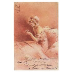 Eternal Feminine by Louis Icart Historical WWI 1919 Postcard