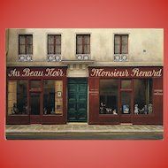 Monsieur Fox Paris Toy Shop by French Painter André Renoux Unused Vintage Artist Signed