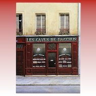 Caves of Bacchus Paris Spirits Shop by André Renoux Unused Vintage Postcard