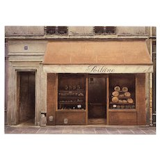 Poilâne Iconic Paris Bakery Immortalized in Vintage Postcard by French Painter André Renoux