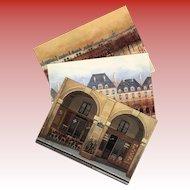Place des Vosges Paris Oldest Square Three Vintage Unused Postcards by André Renoux