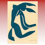 Nude Blue Dancer by Matisse 1970 Art Print