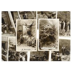 Life of Christ by Mastroianni Complete Set of 85 Real Photo Sculptochrome Cards from 1911