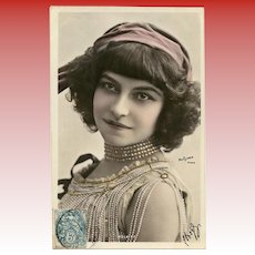 Colette's Claudine Stage Star Polaire Reutlinger of Paris Real Photo Hand-detailed 1904