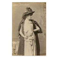 Rare Real Photo Postcard of Sarah Bernhardt by Lyon Photographer