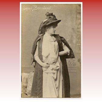 Rare Real Photo Postcard of Sarah Bernhardt by Lyon Photographer