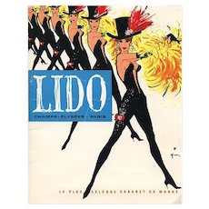 1962 Lido Paris Cabaret Program Designs by René Gruau