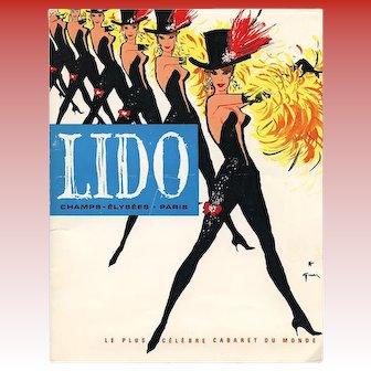 1962 Lido Paris Cabaret Program Designs by René Gruau