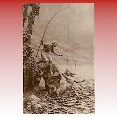 Miraculous Capture: Unused 1914 Mermaid Sculptochrome Photo Postcard by Mastroianni