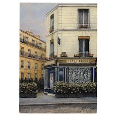 Beauvilliers Restaurant in Paris by French Painter André Renoux