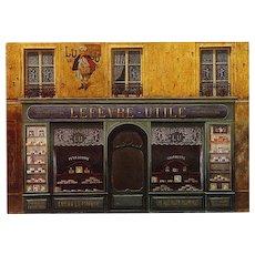 LU Biscuits Paris Iconic Shop by André Renoux Unused Vintage Postcard