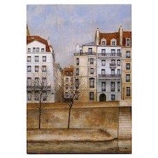 Heart of Paris Isle Saint Louis by André Renoux Artist Signed