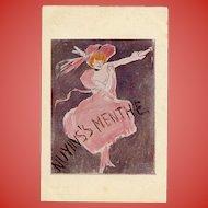 Postcard Oddity: Paris Poster Company Liqueur Advertisement Cappiello Design