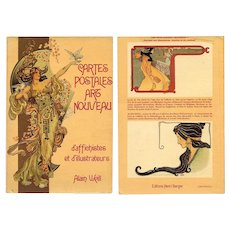Cartes Postales Art Nouveau 1977 French Book by Alain Weill