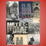 Notre Dame of Paris Assortment of Eight Vintage and Antique French Postcards