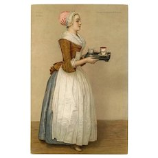 The Chocolate Girl by Liotard Unused Antique Stengel Postcard