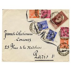 Paris Envelope 1939 French Stamps Mail Art