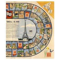 Tour de France Game Eiffel Tower Shell Promotion c1950s