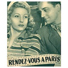 Rendez-vous A Paris French Film Magazine Errol Flynn