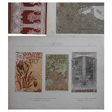 """Three Art Nouveau French Lithographic """"La Decoration"""" Prints"""