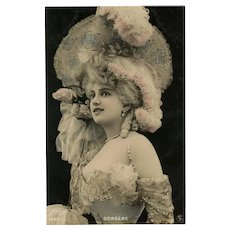 Belle Epoque Star Dorgere Reutlinger Photo Postcard Unused