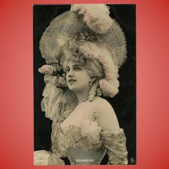 Belle Epoque Star Dorgere Reutlinger Photo Postcard Unused