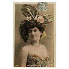 Belle Epoque Glamour Star 1906 French Postcard