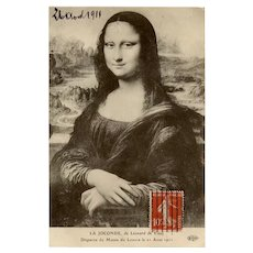 Mona Lisa Stolen 1911 Antique French Postcard