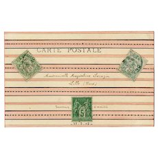 Artfully Customized 1905 French Salon de Paris Postcard