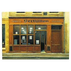 Iconic Berthillon Paris Ice Cream Shop by French Painter André Renoux Unused Vintage Postcard