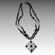 LES BERNARD- vintage signed runway necklace
