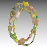 LES BERNARD-  signed unique pastel runway necklace