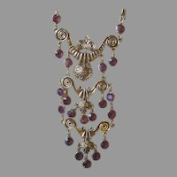 GOLDETTE- Runway Signed Vintage Necklace and Earrings