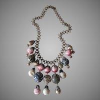 Vintage Book Chain Bauble Necklace- Fabulous