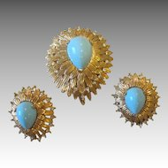 JOMAZ and JOSEPH MAZER- unbelievable signed  vintage brooch and earrings