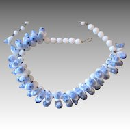 Poured Glass Exceptional Vintage Runway Necklace
