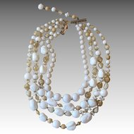 HATTIE CARNEGIE- Huge and Yummy Signed Multi-Strand Runway  Necklace