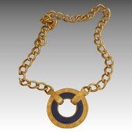 MONET- Bold Vintage Signed  Runway Necklace