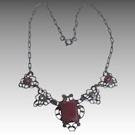 Old Czech sweet marcasite necklace