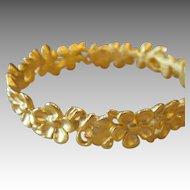 GIVENCHY- gold tone runway bracelet