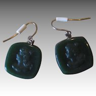 Victorian Intaglio Wire earrings