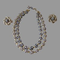 HOBE- Super Rondelle Vintage Necklace and Earrings