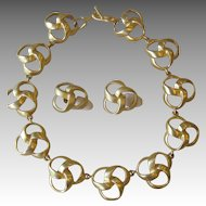 Les Bernard- Couture Runway Necklace and Earrings