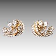 Crown Trifari- Stunning Old Vintage Earrings