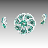 Stunning HOBE brooch and earring set