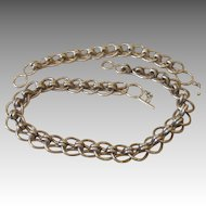 Zina - 207 Grams Sterling Necklace and Bracelet