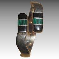Sterling mid- century clamper bracelet