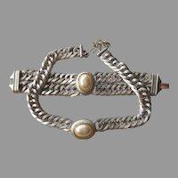 Monet- Stunning Vintage Runway Necklace and Bracelet