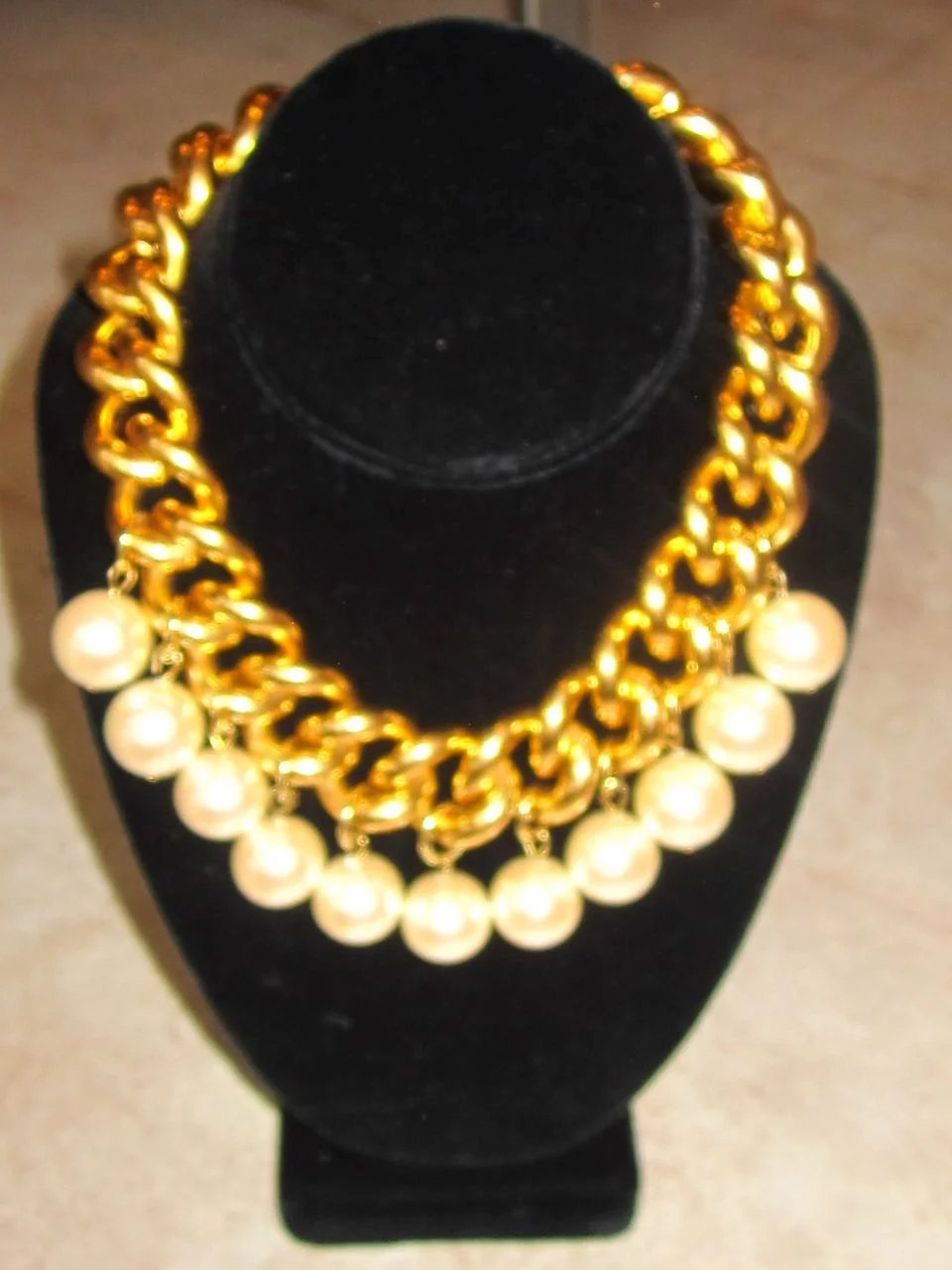 Erwin Pearl Runway Vintage Signed Funky And Fun Necklace