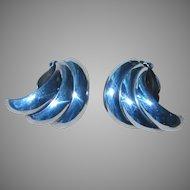 Sterling Vintage Moderne Earrings